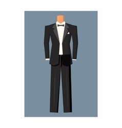 Wedding tuxedo icon cartoon style vector image