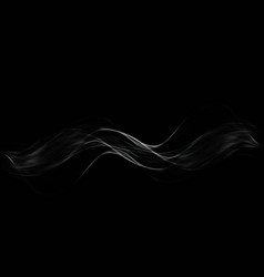 white transparent steam on dark background vector image