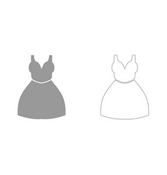 woman dress it is icon vector image