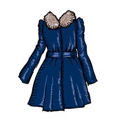 Women coat vector
