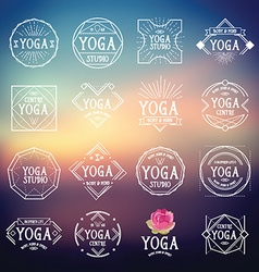 Yoga logo sport icons vector