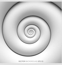 fibonacci spiral white abstract background vector image vector image