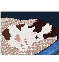 puppy asleep vector image vector image
