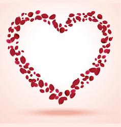 Rose petals heart vector image vector image