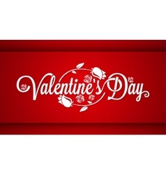 Valentines Day Lettering Banner Background vector image vector image