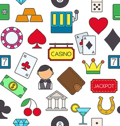 Games of chance colorful pattern icons vector image
