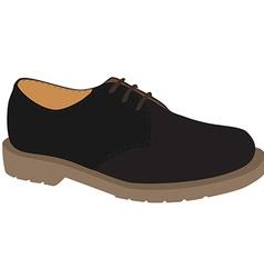 Grey shoe vector image