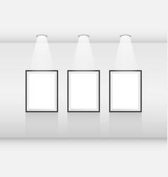 Interior art gallery frames vector