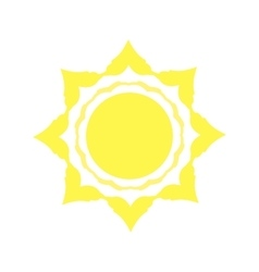 Mechanical logo yellow sun vector image vector image