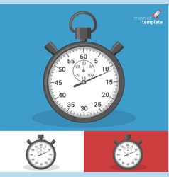 modern stopwatch icon vector image