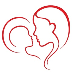 Motherhood love vector image vector image