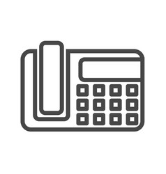 office phone thin line icon vector image vector image
