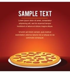 Pepperoni pizza background vector