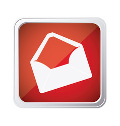 red emblem open message envelope icon vector image