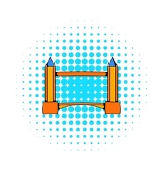 Tower Bridge in London icon comics style vector image vector image