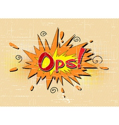 comic book exclamation vector image vector image