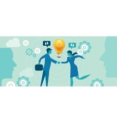 corporate company innovation collaboration people vector image