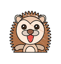 draw porcupine animal comic vector image