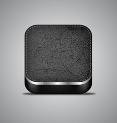 Leather App Icon vector image vector image