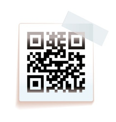 QR paper tag vector image vector image