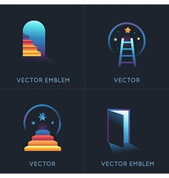 Set of abstract concepts and logo design elements vector