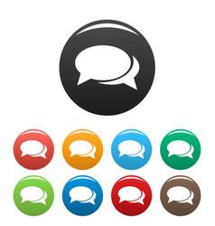 speech bubbles icons set vector image