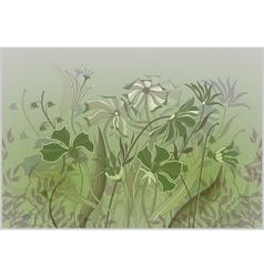 wildflowers pastel drawing vector image vector image