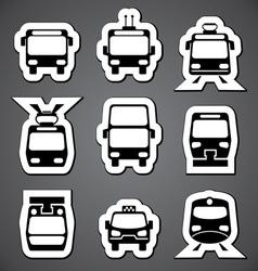 public transport label vector image vector image