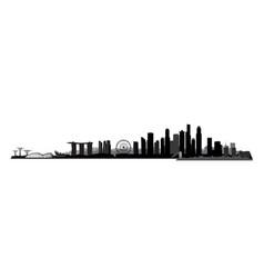 singapore city singapore urban skyline with vector image vector image