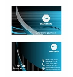 - business card set vector image