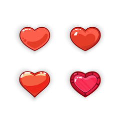 3d heart game design 3d heart game icon vector image
