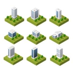 3D isometric city vector