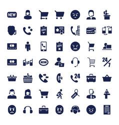 49 customer icons vector