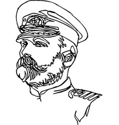 a man in a cap uniform minimalistic vector image