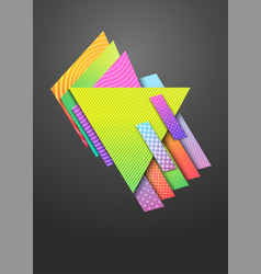 Abstract geometric modern background vector