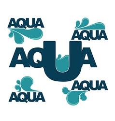 Aqua emblems vector