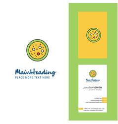 Bacteria on plate creative logo and business card vector