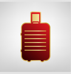 baggage sign red icon on vector image