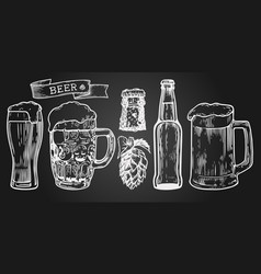beer setn vector image
