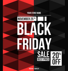 Black friday sale design template vector