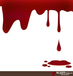 Blood dripping blood background vector image