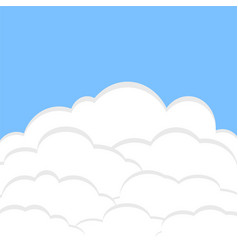 blue sky background with white clouds for poster vector image