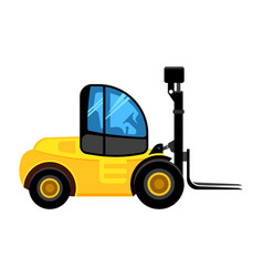 cargo loader construct yellow car for building vector image