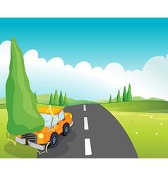 Cartoon Car Crash vector