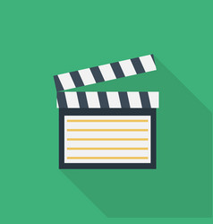 clapboard icon set of great flat icons with vector image