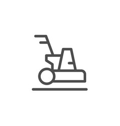cleaning machine line icon vector image