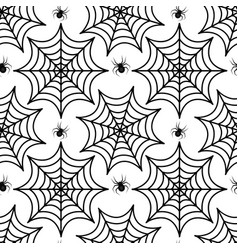Cobweb seamless pattern spider repetitive texture vector