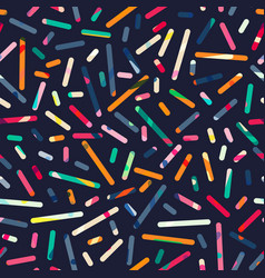 colored strips geometric seamless pattern vector image