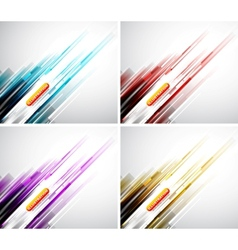 Colorful straight lines background vector image