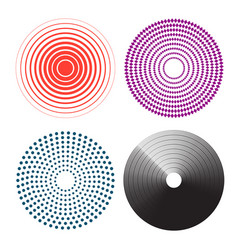 Concentric circles radial lines pattern pain vector